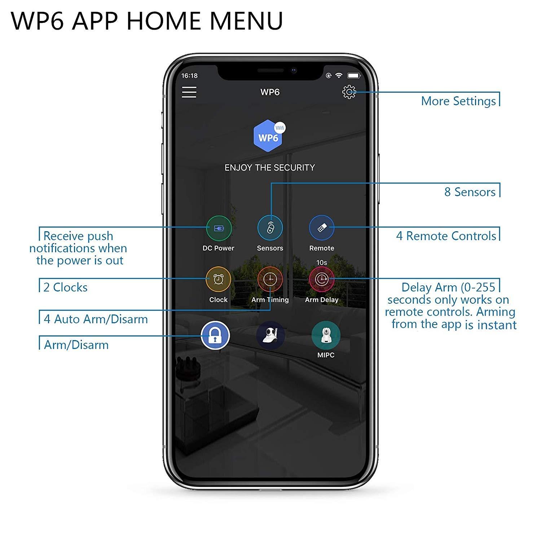Kerui - Casa inteligente WiFi, control de app antirrobo, sistema de alarma de puerta infrarrojos, detector de movimiento: Amazon.es: Bricolaje y ...