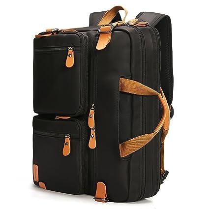 Bolsa de mensajero bolsa de hombro bolso de ordenador portátil de negocios Maletín de negocios multi-funcional de viaje mochila se adapta a 17,3 ...