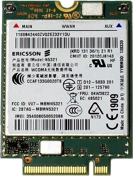 Ericsson N5321GW 04W3823 3G Module WWAN Card Thinkpad S540 X230s X240 T440 T540p