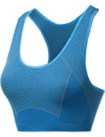 Xpril Women's Sporty Pattern Racerback Wirefree Padfree Sport Bras