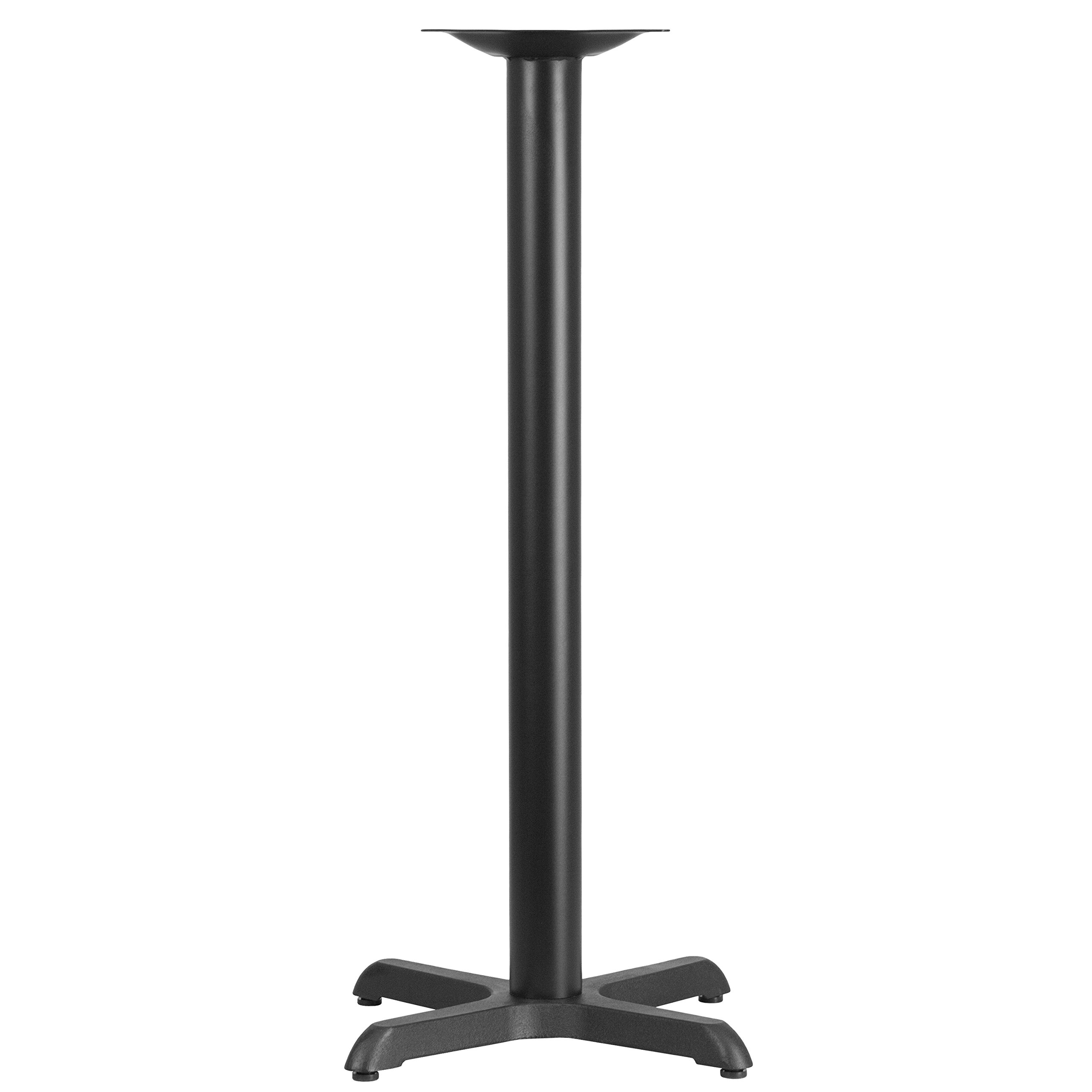 Flash Furniture 22'' x 22'' Restaurant Table X-Base with 3'' Dia. Bar Height Column by Flash Furniture