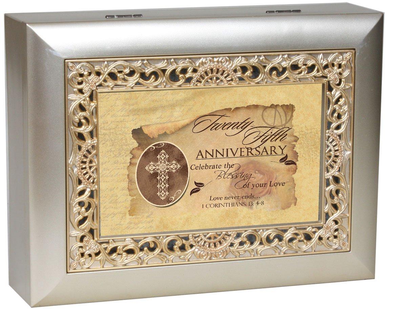 数量限定セール  Cottage Garden Inspirational Music Grace Box - 25Th B0065OFSQ6 Anniversary Box Plays Amazing Grace With Ornate Champaign Silver Finish B0065OFSQ6, 見つかる家具ネット e-ネカグ:674b0e01 --- efichas.com.br