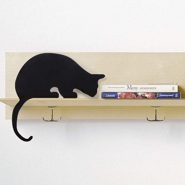 Artori Design Chats/'s Meow Cat STATUE FIGURINE SILHOUETTE en métal noir étagère Décor