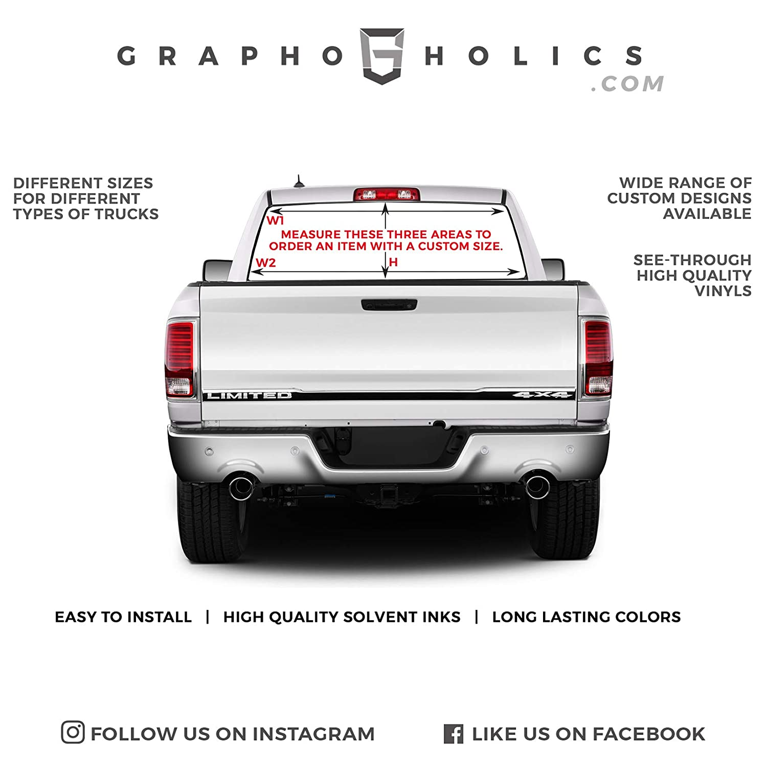Pick-Up Truck Perforated Rear Window Wrap Louisiana