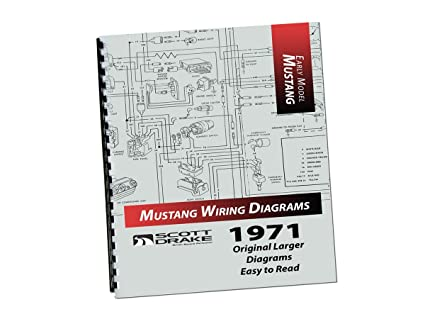 amazon com mustang wire diagram book large 1971 scott drake rh amazon com