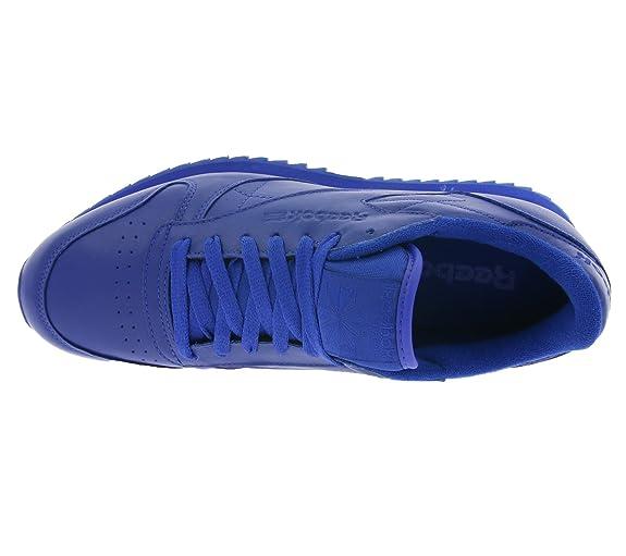 Reebok CL Leather Ripple Mono Zapatos Azul AR2350, Size:45.5