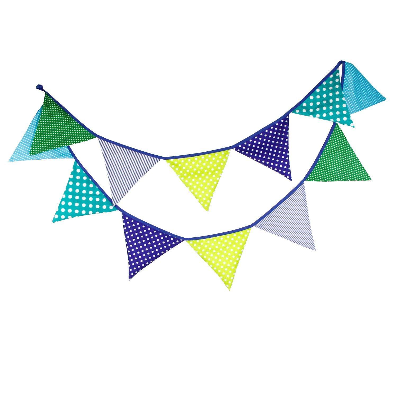 Banderines de tela para fiestas, cumpleaños, aniversario de boda o bautizos, multicolor Succulent Style