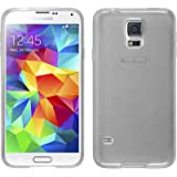 Coque en Silicone pour Samsung Galaxy S5 Neo - transparent blanc - Cover PhoneNatic Cubierta + films de protection
