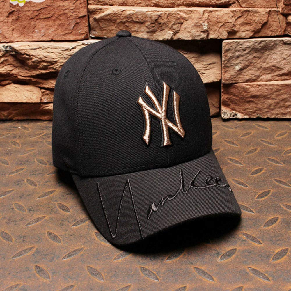 xiaochicun Sombrero Hombres y Mujeres NY Cap Gold Standard Yankees ...