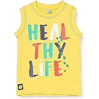 Camiseta Punto SIN Mangas NIÑO Amarilla Healthy Life
