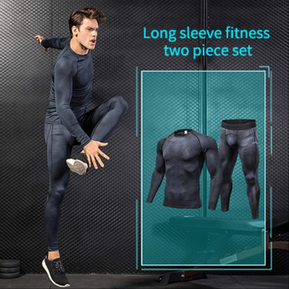 Long 2Pcs noir S NUASH Compression FonctionneHommest Hommes VêteHommests Sport Joggers Trainning SurvêteHommest pour Hommes Workout Sport Suit