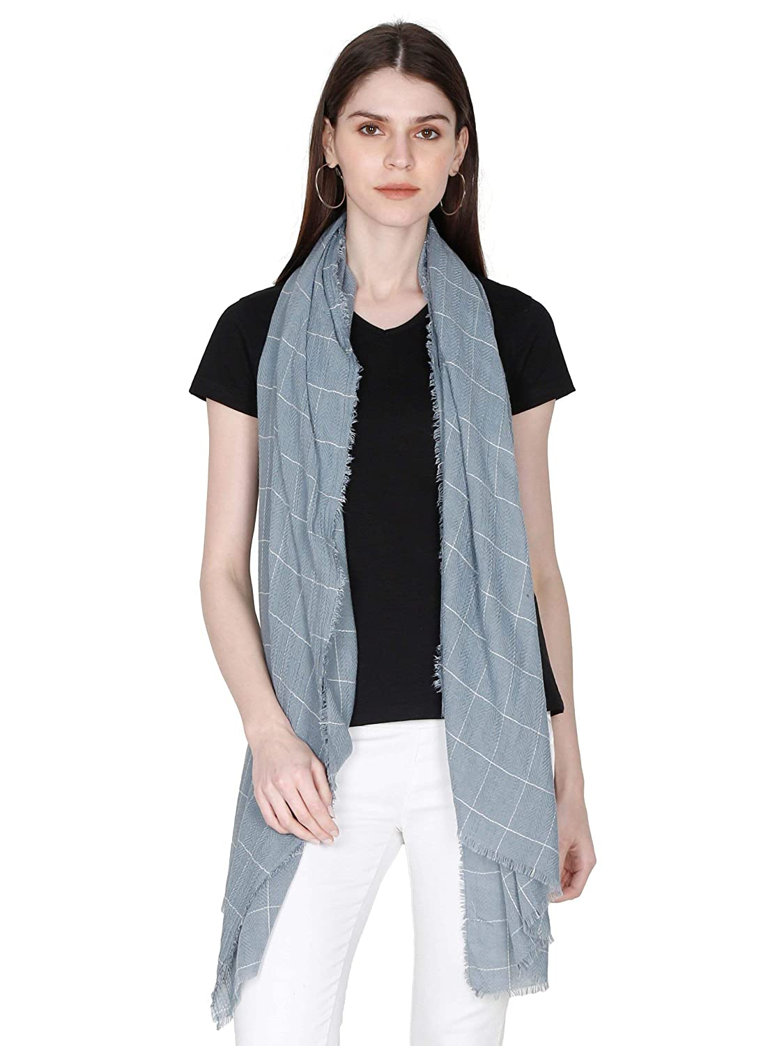 FabSeasons Self Design Cotton Scarf, Scarves, Stole & Shawl for Men & Women for Summer & Winters, Large Size - 100 * 180 cms