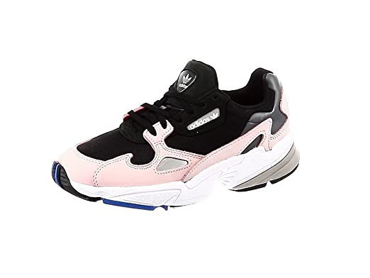 dfc32923e9 adidas Women's Falcon W, CORE Black/CORE Black/LT Pink, 7 US