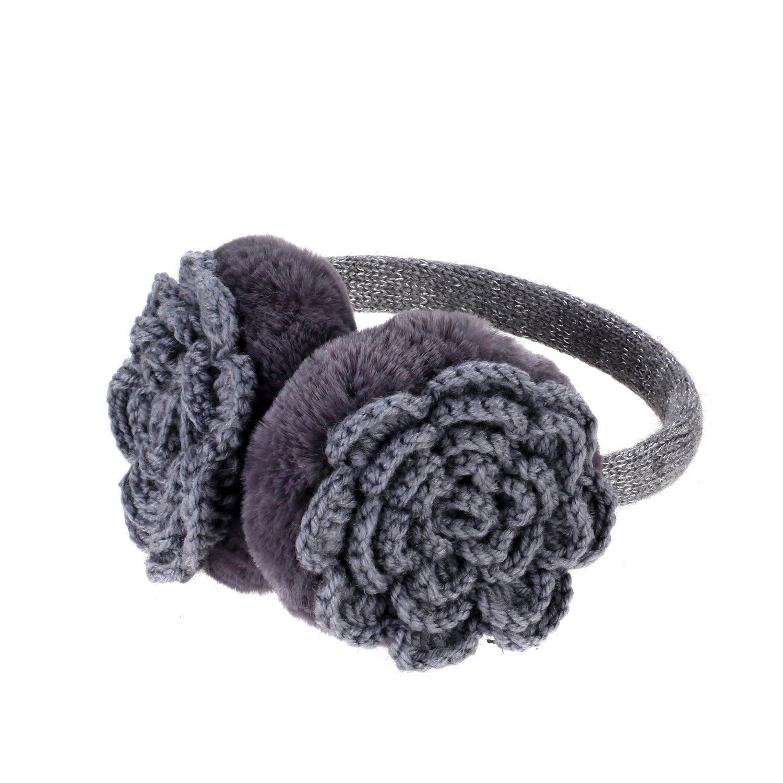 Sudawave Cache-oreilles unisexe chaud cache-oreilles en tricot hommes cache-oreilles hiver femmes en molleton