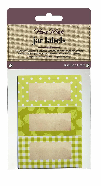 Kitchen Craft Home Made Canning Labels - Green KCHMJLAB10