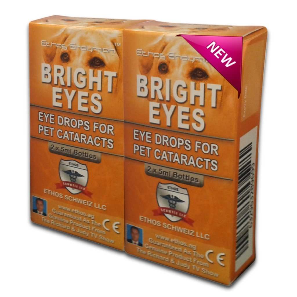 Carnosine Eye Drops 2 boxes (4 x 5ml bottles) - Ethos Bright Eyes™ NAC Eye Drops for Pets as Seen on UK National TV with Amazing Results! NAC n acetyl carnosine eye drops - Protect Your Pet's Vision with the Very Best Eye Care Available... ETHOS SCHWEIZ LL