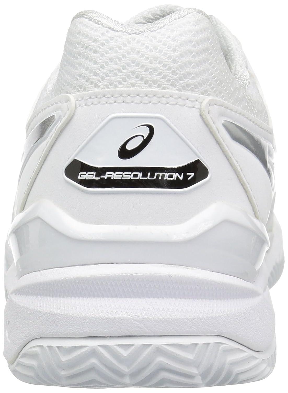 asics gel resolution 7 clay blanco plata