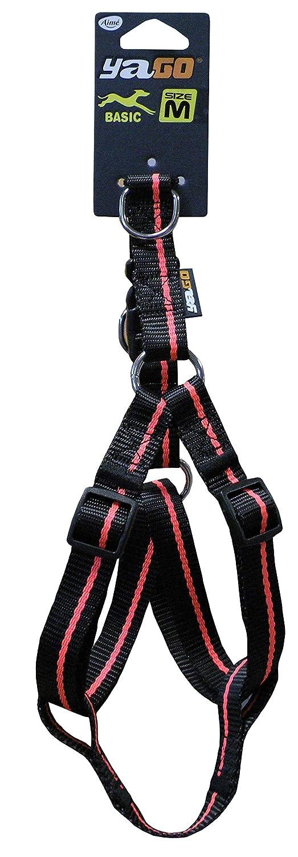 Yago Nylon Basic arnés para Perro Negro/Naranja Talla S 45 – 55 cm ...