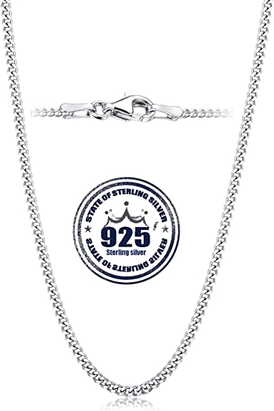 """18/"""" 5 STERLING SILVER 925 STRONG FINE CURB NECKLACE CHAINS 46 CM"""