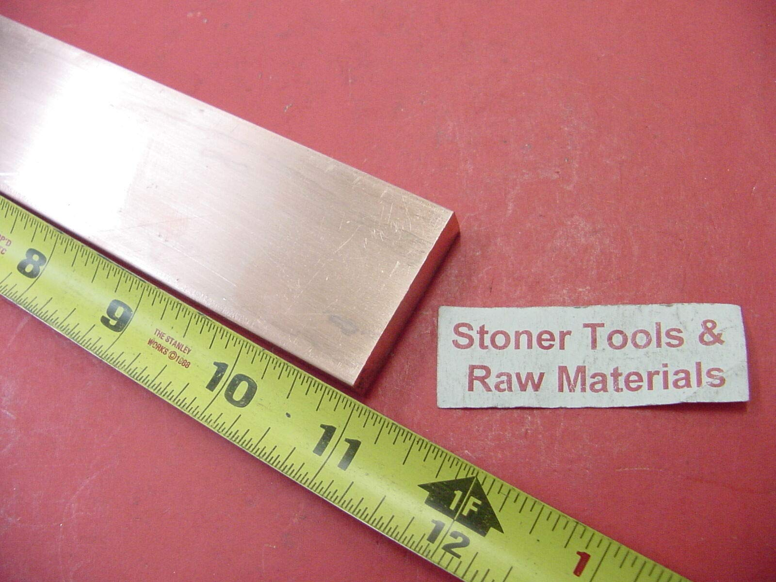 3/8''x 1-1/2'' C110 COPPER BAR 11'' long Solid Flat Bar .375'' Bus Bar Stock H02 by Okumahome