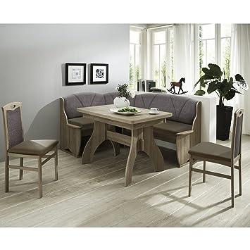 Eckbank Eckbankgruppe Essgruppe Como Essecke Tisch 2 Stühle Sonoma