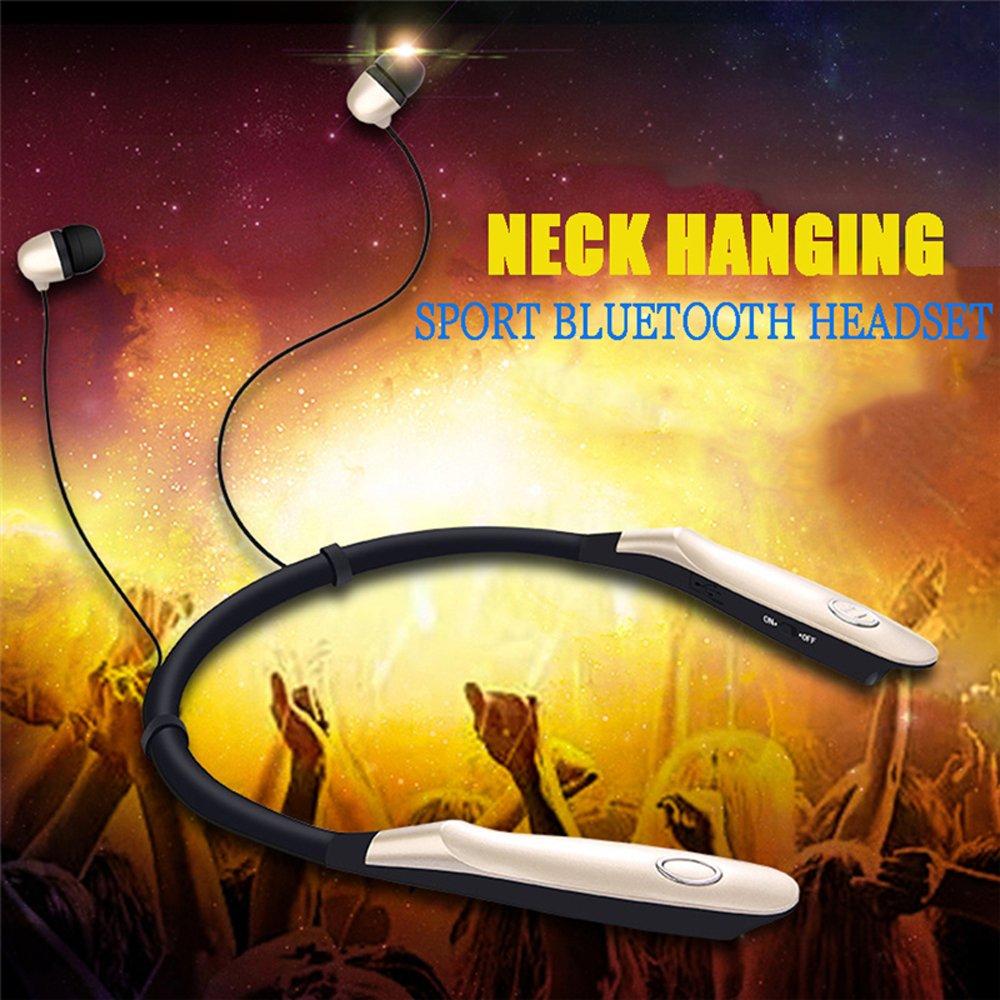 Huawei Oro Auriculares con Banda para el Cuello Micr/ófono Adecuado para iPhone Samsung Auriculares Bluetooth iPad Largo Standbye 200 Horas Sony YaYinKeJi Auriculares Deportivos inal/ámbricos