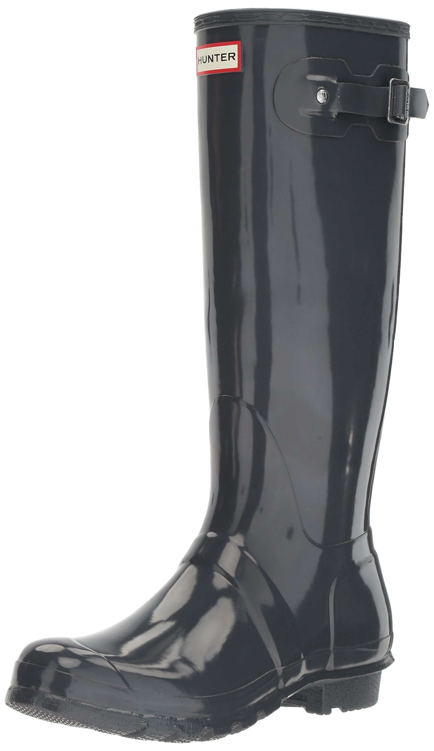 Hunter Women's WFT1000RGL-DSL8 Original Tall Gloss Rain Boots, Grey, 8