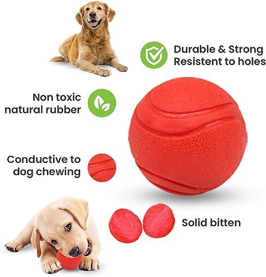 AWIIK - Pack de 4 Pelotas de Juguetes interactivos para Perros. Bolas de Caucho y Goma Resistentes para morder, Limpiar Dientes, dispensadoras de Comida y Entrenamiento. Small: para Perros PEQUEÑOS: Amazon.es: Productos
