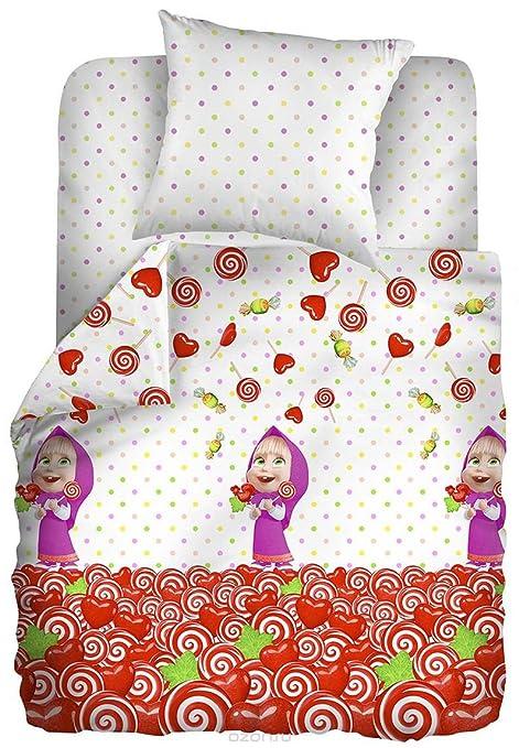 Masha y el oso cumpleaños bebé Juego de ropa de cama para ...