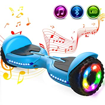 GeekMe 6.5 Pulgadas Patinete Eléctrico Scooter Eléctrico Auto Equilibrio Inteligente Built-in Bluetooth Speaker Flashing LED Luces para Niños y ...