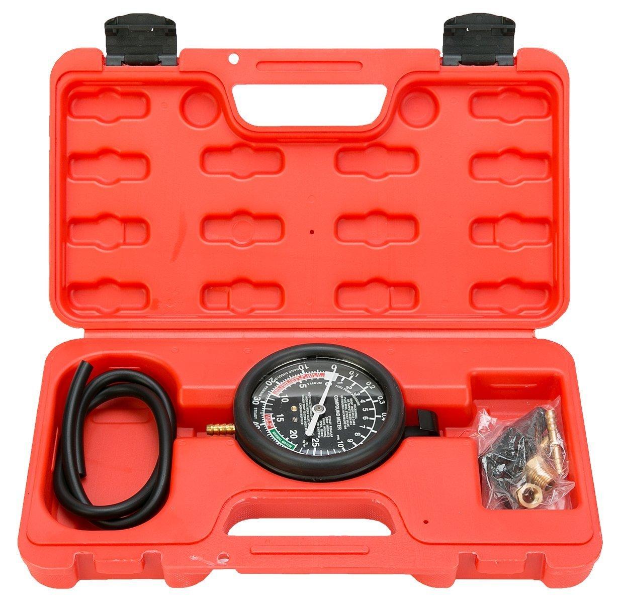 8milelake Fuel Pump & Vacuum Tester Carburetor Valve Pressure Tester Gauge Kit Car Truck