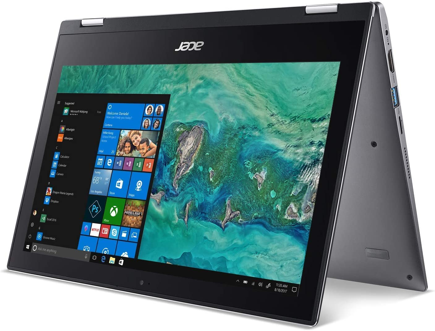 Newest Acer Convertible 2-in-1 UltraBook-11.6in Touchscreen, Intel Celeron Dual-Core N4000 Processor, 4GB Ram 64GB SSD, HDMI, Win10 Home S(Renewed)