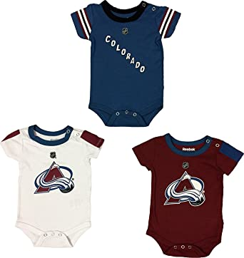 new concept bc7ca cef22 Colorado Avalanche Hockey Jersey 3 Pieces Newborn Creeper Set