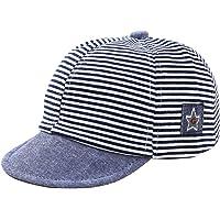 Oenbopo Baby Infant Boys Girls Summer Striped Baseball Cap Hat Children Cap Breathable Mesh Hat