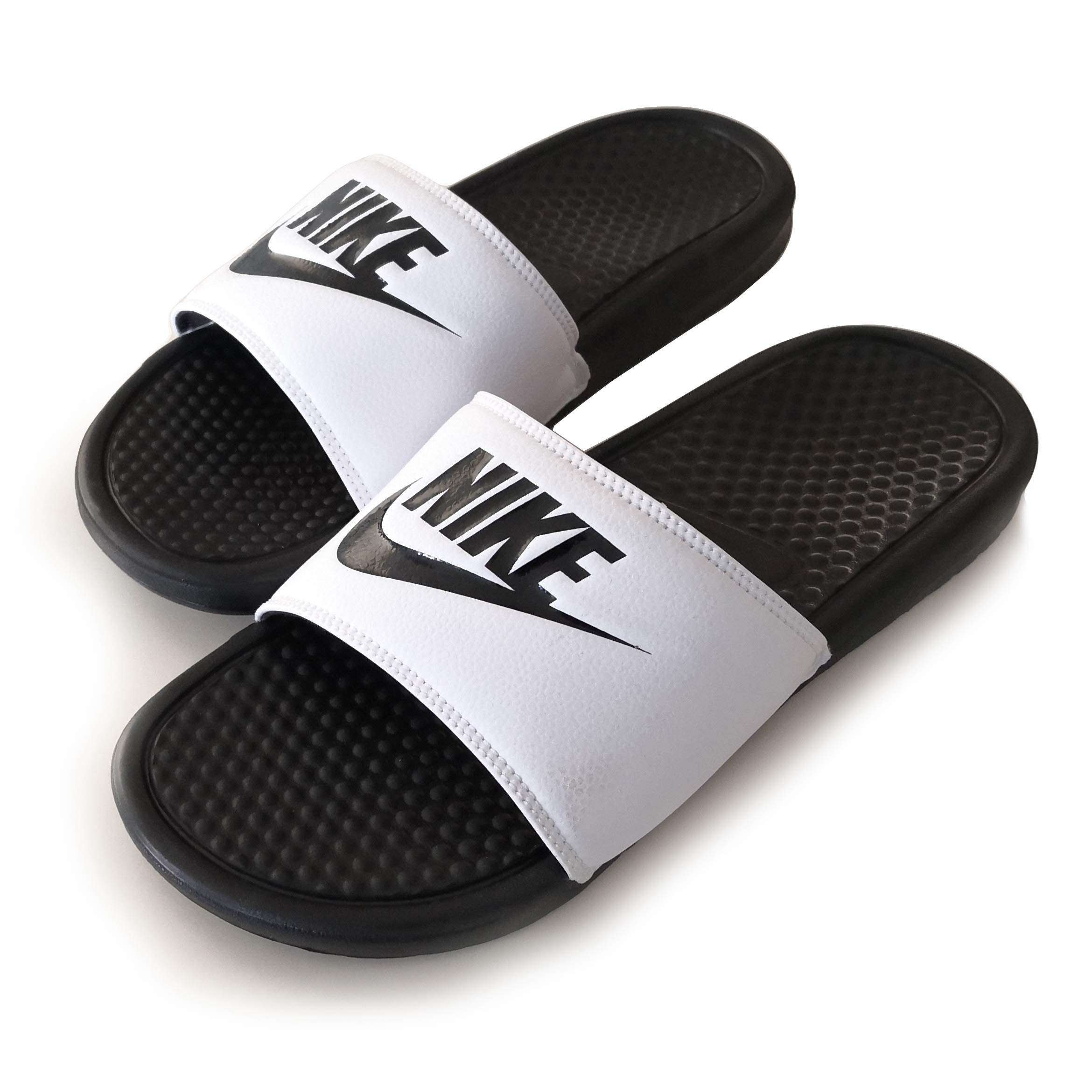 lowest price a27aa c8473 Galleon - NIKE Benassi Just Do It Print Men s Slide White (9)