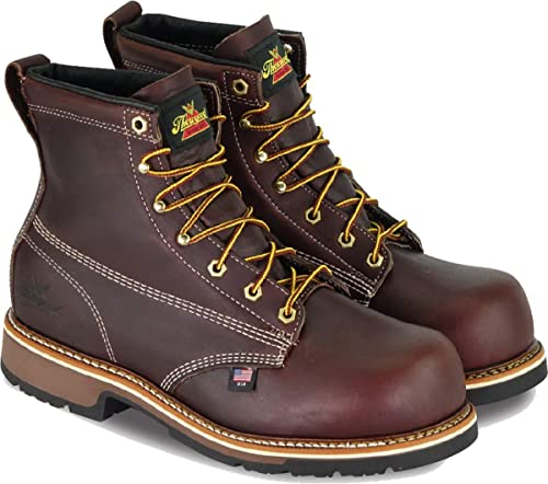 b6519cb57a0 Thorogood Men's American Heritage 6 Inch Safety Toe Lace-up Boot ...