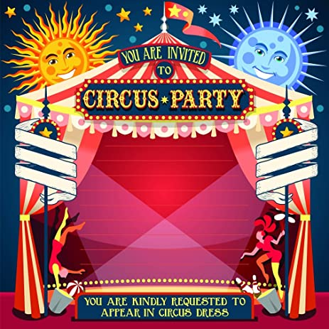 amazon com circus background for kid birthday party carnival game