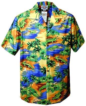 bb056337 Alligator Island Paradise - Mens Hawaiian Shirts - Aloha Shirt - Hawaiian  Clothing - 100%