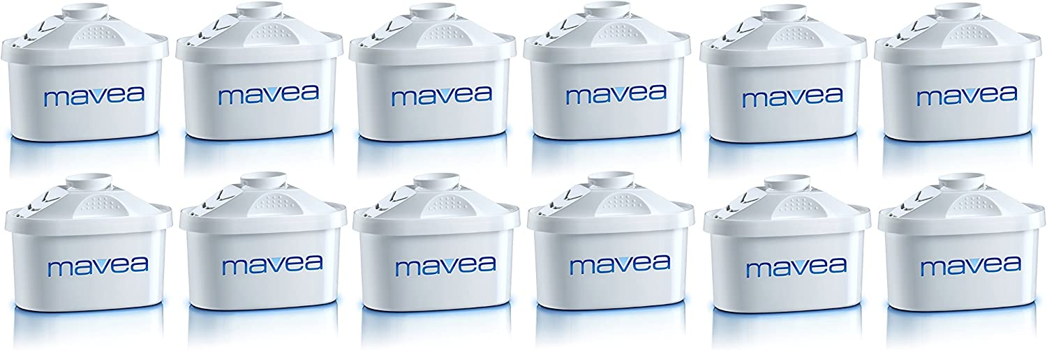 MAVEA 105731 Maxtra 12-Pack Replacement Filter for MAVEA Water Filtration Pitcher