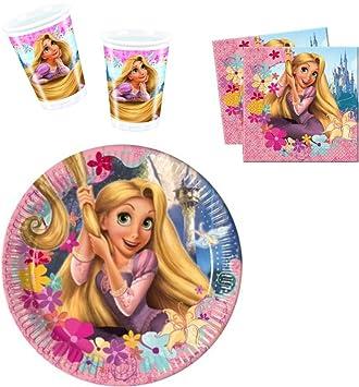 Disney Tangled Rapunzel Party Set Cups Plates Napkins  sc 1 st  Amazon UK & Disney Tangled Rapunzel Party Set Cups Plates Napkins: Amazon.co.uk ...