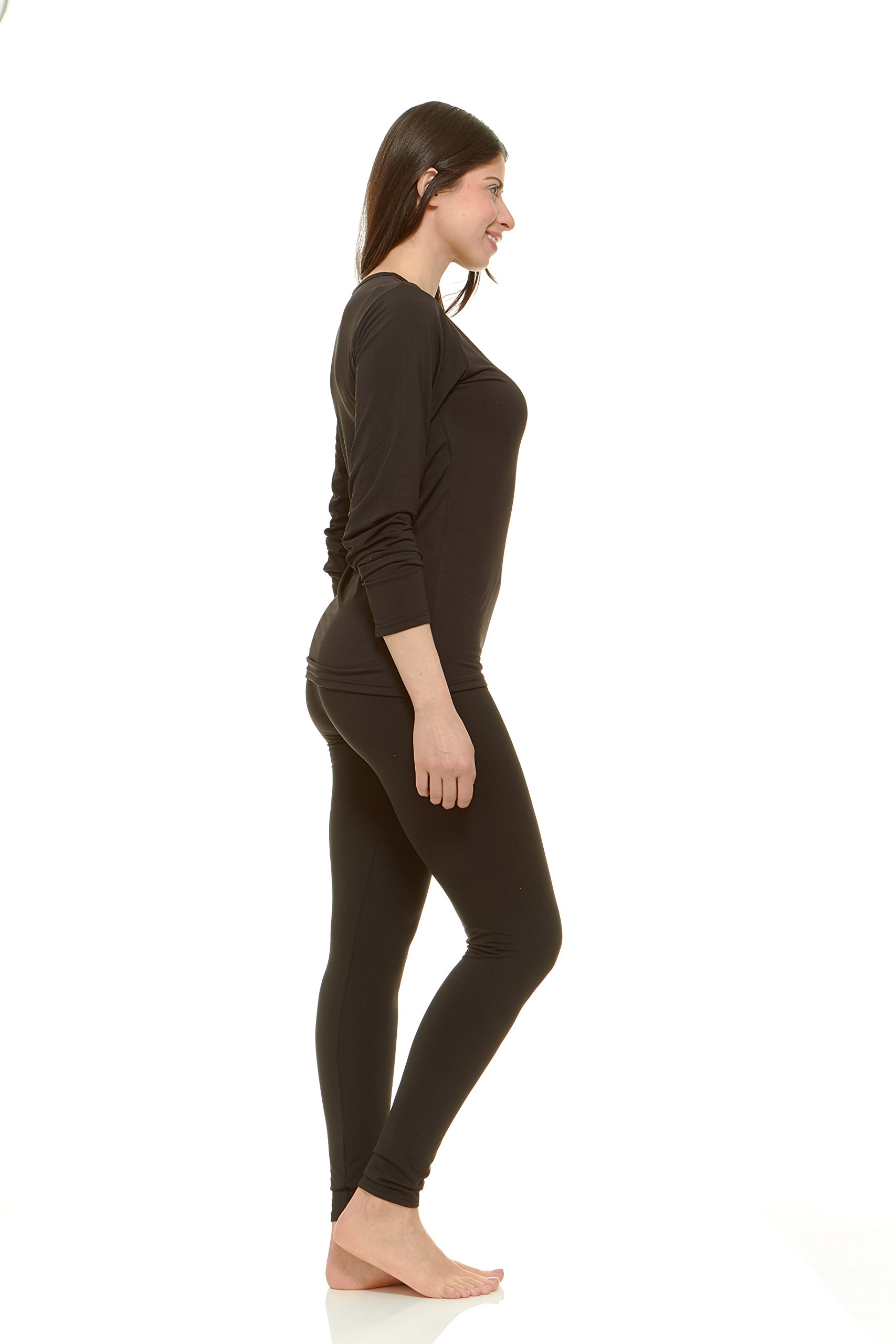 52275c0e7ac Women s Ultra Soft Thermal Underwear Long Johns Set with Fleece Lined