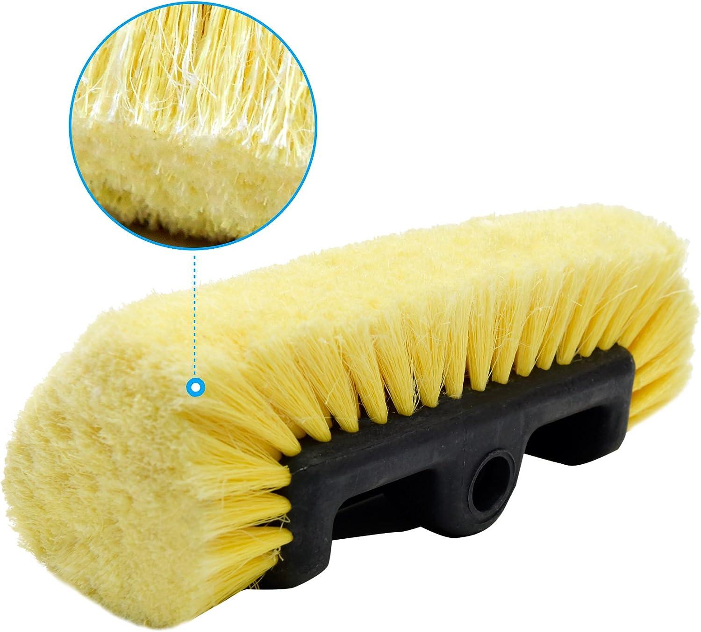 156 Rueda de coche avanzada cepillo de limpieza Grandes Super Suave Cerdas y Goma Vástago