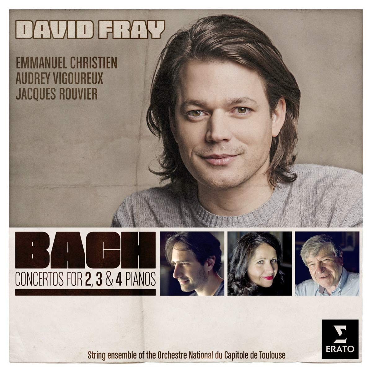 CD : David Fray - Bach Concertos For 2, 3, And 4 Pianos (CD)