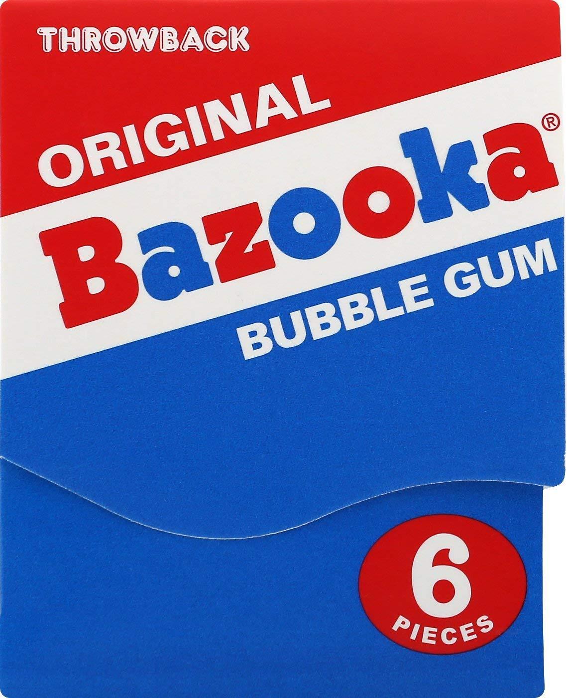 Bazooka Bubble Gum Original Nostalgia Mini-Wallet Pack - 6Count (Pack Of 12) by Bazooka