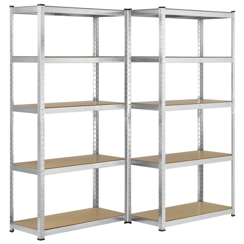 2er Set Lagerregal 'Basic' Maß e: 180 x 90 x 40 cm | Juskys Juskys Gruppe GmbH