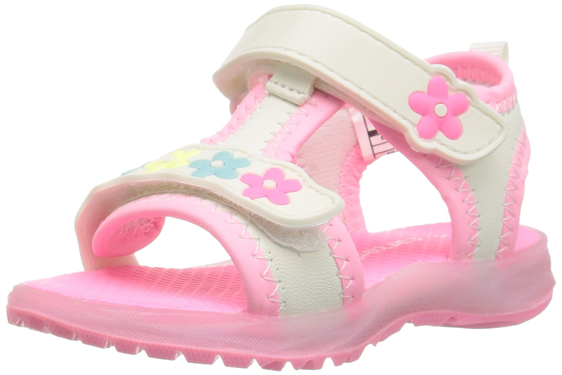 carter's Chelsea Girl's Light-Up Sandal, White, 10 M US Toddler