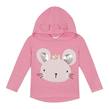 924172889 bluezoo Kids  Girls  Bright Pink Mouse Applique Sweater 18-24 Months ...