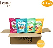 VEGAN Candy Assortment Gift Box - Lovely Candy Co. 4 Bags of our VEGAN, Non-GMO & GLUTEN-FREE Fan Favorite candies!
