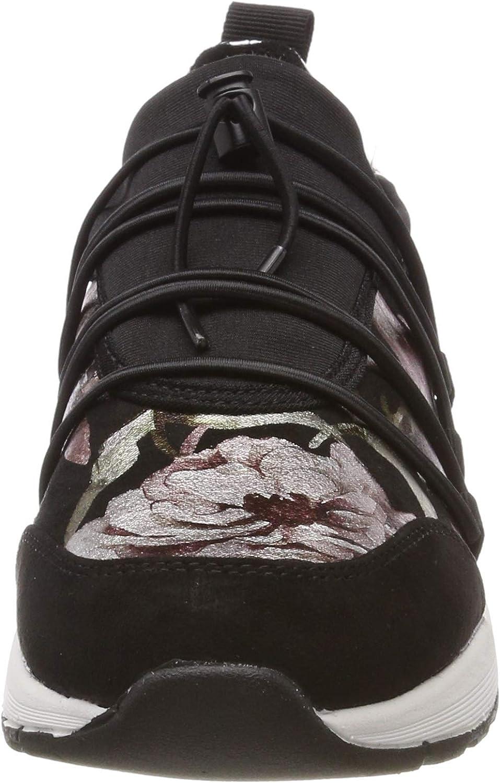 s.Oliver Women's 5-5-23616-22 098 Low-Top Sneakers Black (Black Comb 98)