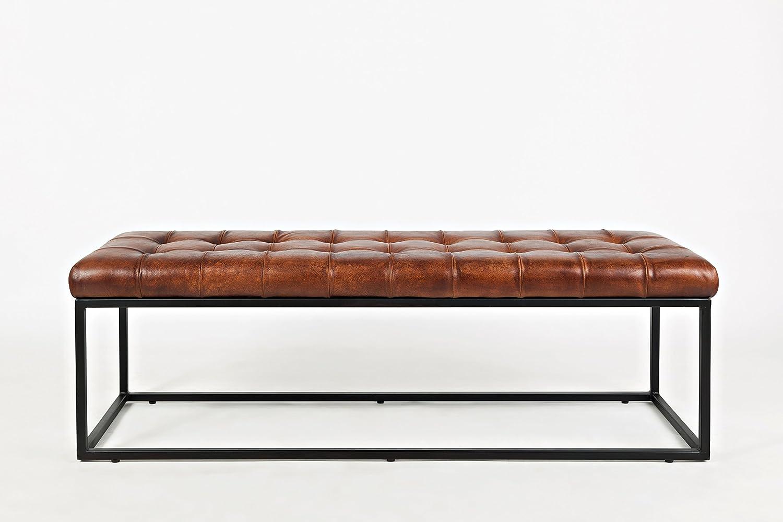 Excellent Amazon Com Jofran Leather Ottoman Bench In Saddle Finish Machost Co Dining Chair Design Ideas Machostcouk